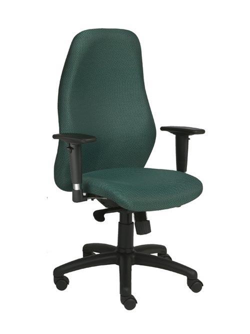 A green genet highback chair.