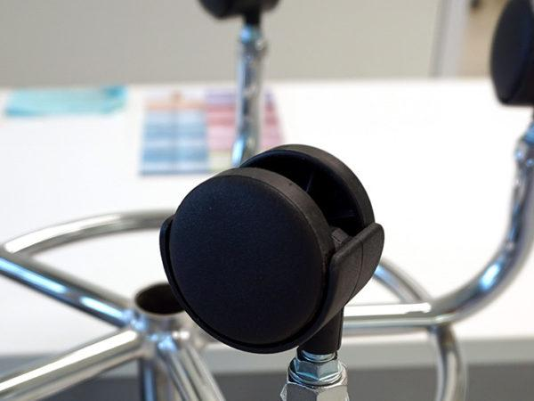 office chair castors or wheels leaning to side