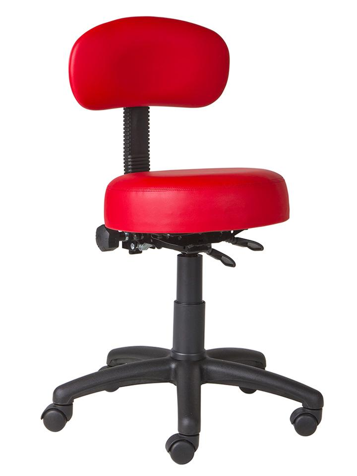 red dental chair
