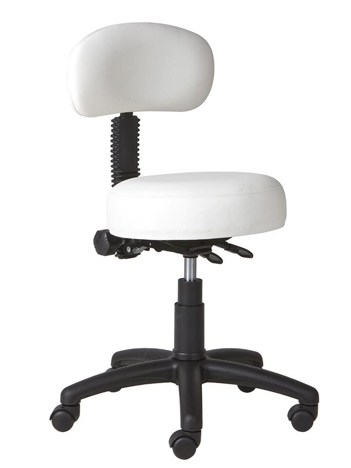 white dental chair