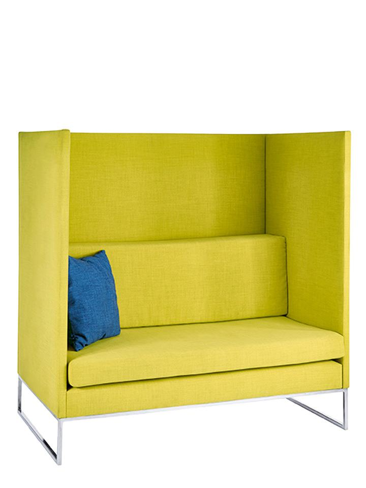 yellow office booth