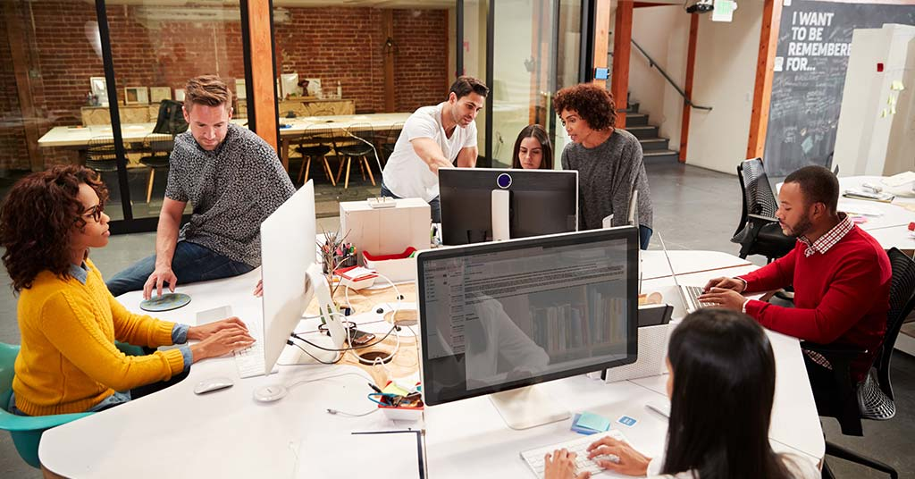 shared open plan offices