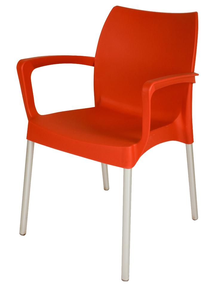 GSI arm chair in red